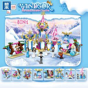 ZHEGAO QL1113 Windsor Castle Series Ice and Snow Season: Princess Ice and Snow Park 8 combinations. 0