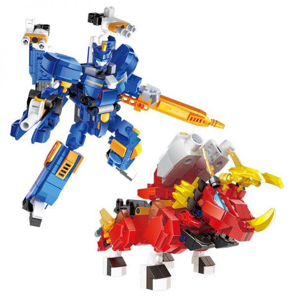 ZHEGAO ZG0111 Mini Special Attack Team Super Dinosaur Power: Thumping Dazzling Dragon Machine A 2 combination Storm Point Dragon, Dazzling Dragon Knight 0