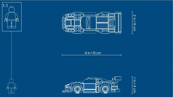 ZHEGAO QL0720-3 Super Racing Cars: Porsche 911 RSR and Porsche 911 Turbo 3.0 1