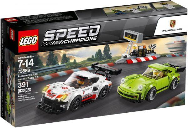 ZHEGAO QL0720-3 Super Racing Cars: Porsche 911 RSR and Porsche 911 Turbo 3.0 3