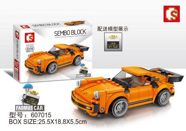ZHEGAO QL0720-3 Super Racing Cars: Porsche 911 RSR and Porsche 911 Turbo 3.0 4