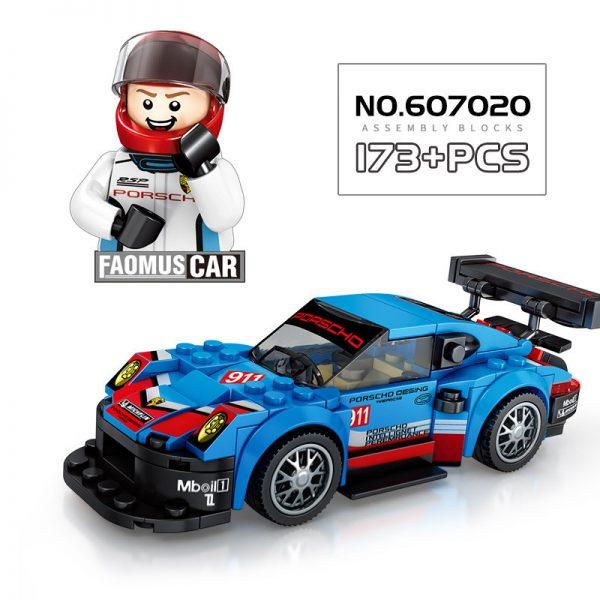 ZHEGAO QL0720-3 Super Racing Cars: Porsche 911 RSR and Porsche 911 Turbo 3.0 5