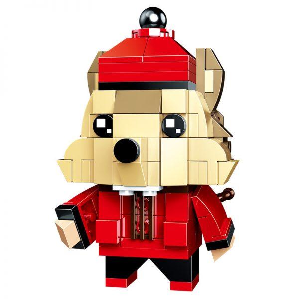 ZHEGAO QL0953-1 New Year's Day: BrickHeadz 4 Rat Year Fluffy 15