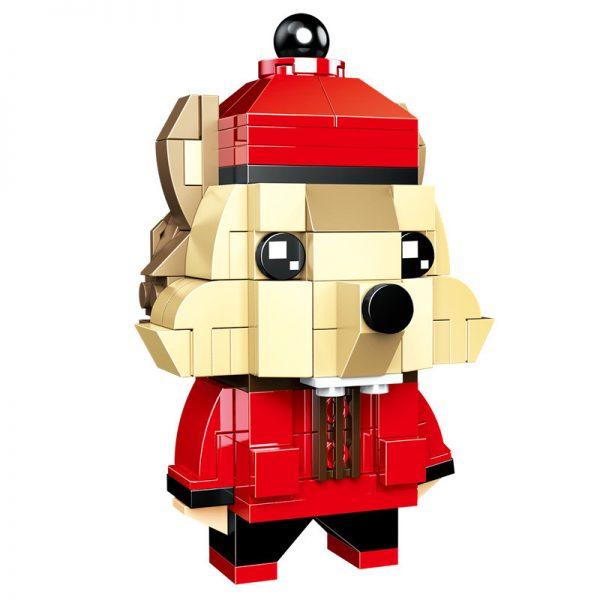 ZHEGAO QL0953-4 New Year's Day: BrickHeadz 4 Rat Year Fluffy 17