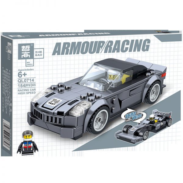 ZHEGAO QL0714 Two-change Racing Cars: 4 4