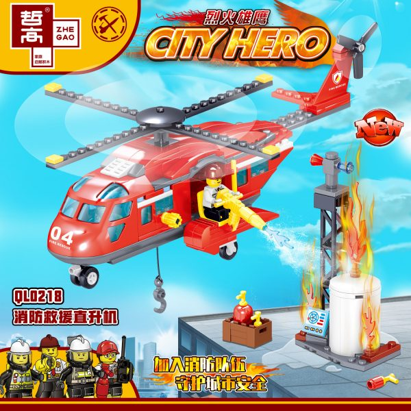 ZHEGAO QL0218 Fire Eagle: Fire and Rescue Helicopter 1