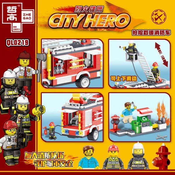ZHEGAO QL0219 Fire Eagle: Rescue Fire Engine 1