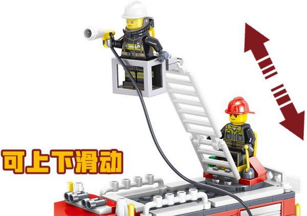 ZHEGAO QL0219 Fire Eagle: Rescue Fire Engine 6