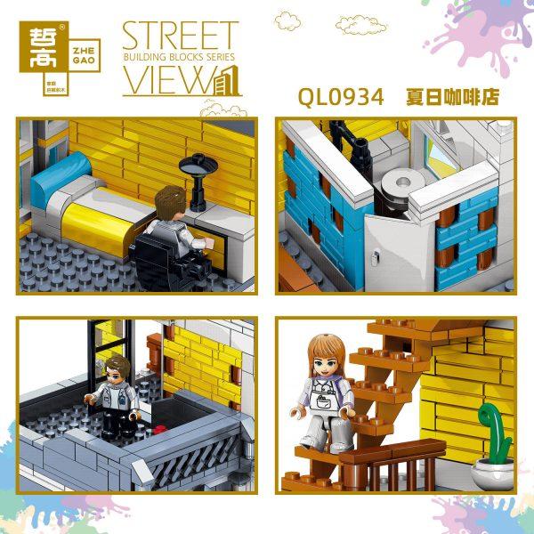 ZHEGAO QL0934 Street View: Summer Coffee Shop 4