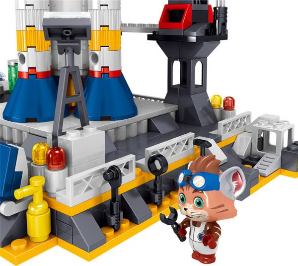 ZHEGAO QL1643 Detective Cat: Space Launch Base 2