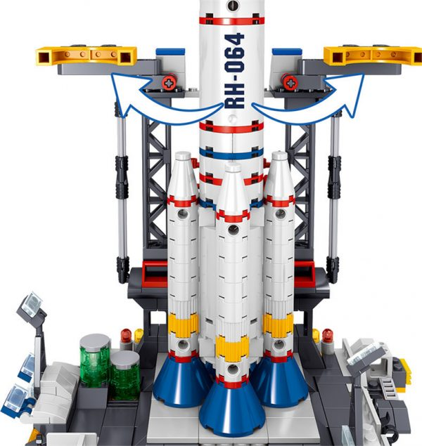 ZHEGAO QL1643 Detective Cat: Space Launch Base 3
