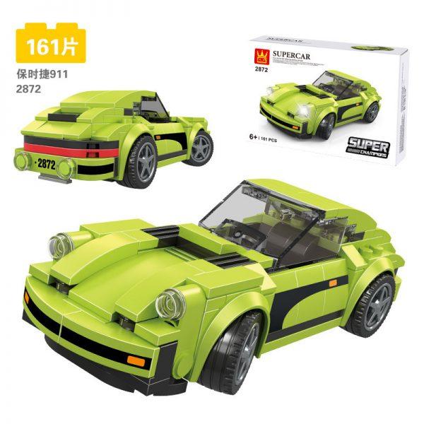 ZHEGAO QL0720-3 Super Racing Cars: Porsche 911 RSR and Porsche 911 Turbo 3.0 12