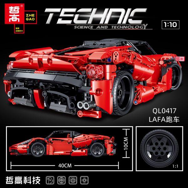 ZHEGAO QL0417 Ferrari Ferrari 1:10 4