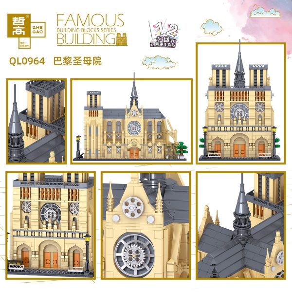 ZHEGAO QL0964 Notre Dame Cathedral 3