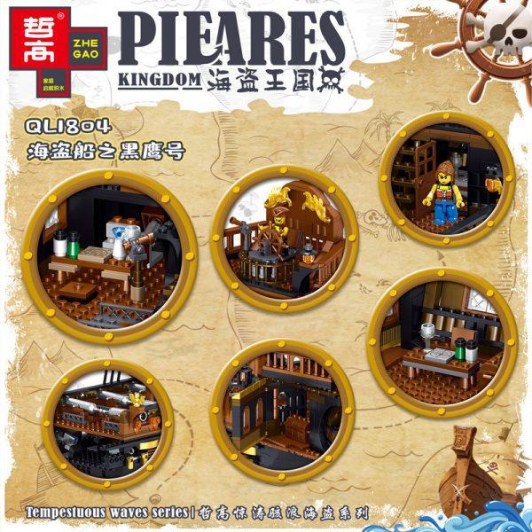 ZHEGAO QL1804 Pirate Kingdom: The Pirate Ship Black Hawk. 3