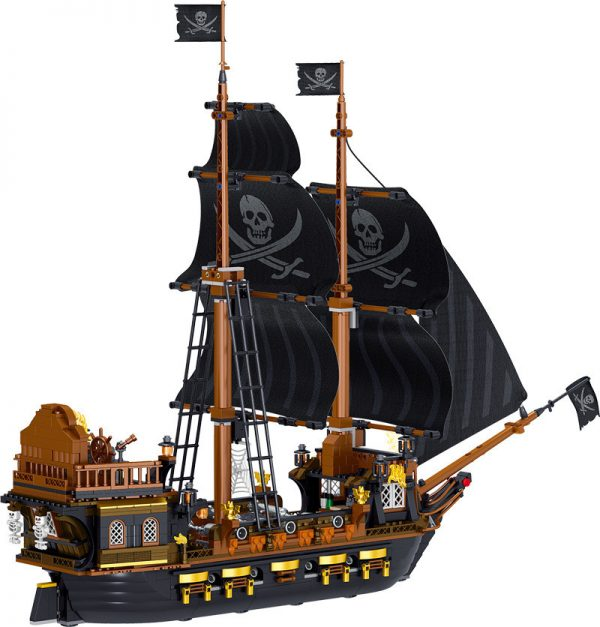 ZHEGAO QL1804 Pirate Kingdom: The Pirate Ship Black Hawk. 4