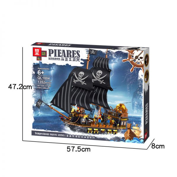 ZHEGAO QL1804 Pirate Kingdom: The Pirate Ship Black Hawk. 11