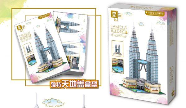 ZHEGAO QL0965 Famous building: Petronas Twin Towers, Kuala Lumpur, Malaysia 2
