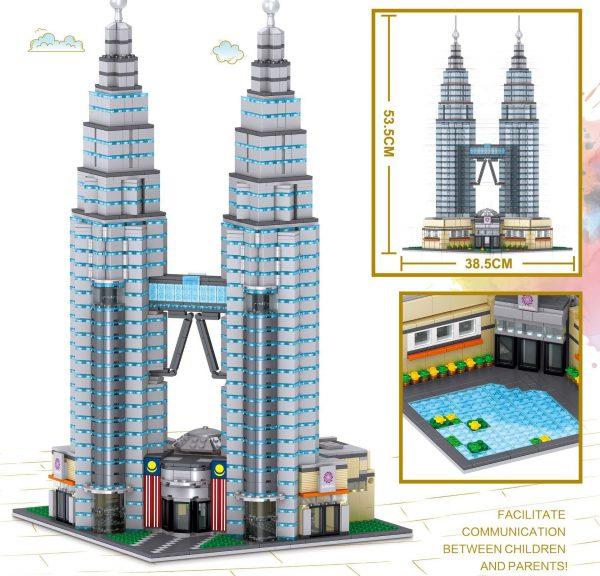 ZHEGAO QL0965 Famous building: Petronas Twin Towers, Kuala Lumpur, Malaysia 3