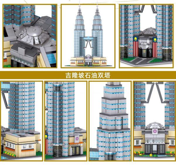 ZHEGAO QL0965 Famous building: Petronas Twin Towers, Kuala Lumpur, Malaysia 4