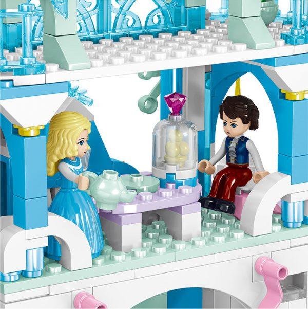 ZHEGAO QL1143 Windsor Castle Series Snow season: Bodelstar Castle 4
