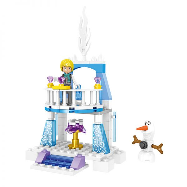 ZHEGAO QL1162 Windsor Castle Series Ice and Snow Season: Ice and Snow Fantasy Castle 3