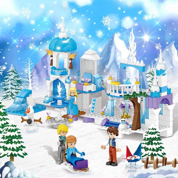 ZHEGAO QL1162 Windsor Castle Series Ice and Snow Season: Ice and Snow Fantasy Castle 5
