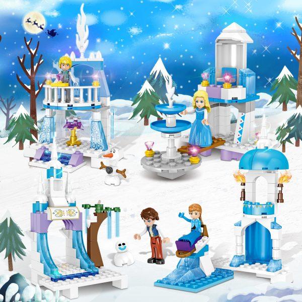 ZHEGAO QL1162 Windsor Castle Series Ice and Snow Season: Ice and Snow Fantasy Castle 6