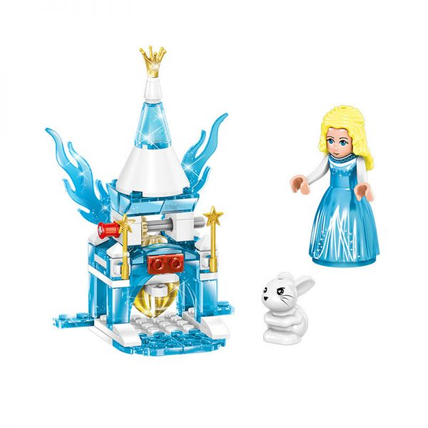 ZHEGAO QL1165 Windsor Castle Series Ice and Snow Season: Fantastic Ice and Snow Link Castle 4 combinations 2