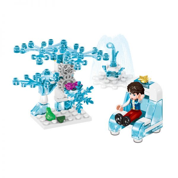 ZHEGAO QL1165 Windsor Castle Series Ice and Snow Season: Fantastic Ice and Snow Link Castle 4 combinations 4