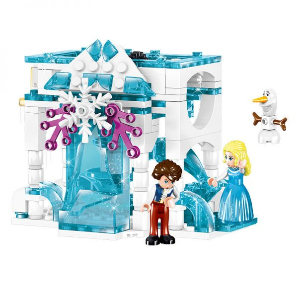 ZHEGAO QL1167 Windsor Castle Series Ice and Snow Season: Luxury Ice and Snow Link Castle 4 combinations 1
