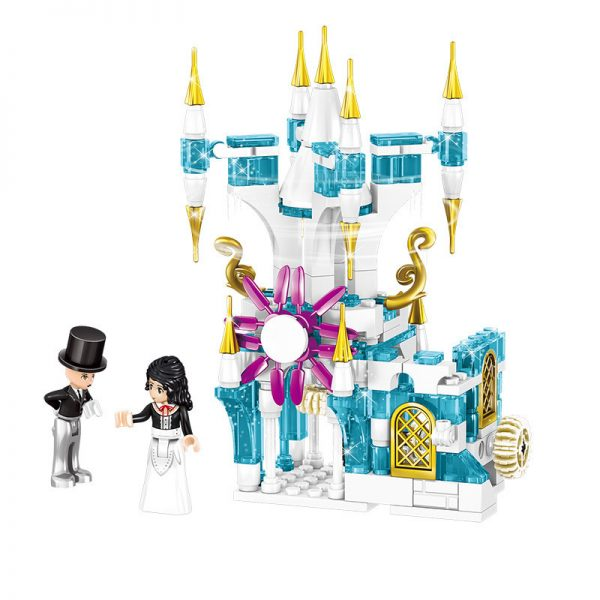 ZHEGAO QL1167 Windsor Castle Series Ice and Snow Season: Luxury Ice and Snow Link Castle 4 combinations 3