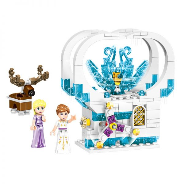 ZHEGAO QL1167 Windsor Castle Series Ice and Snow Season: Luxury Ice and Snow Link Castle 4 combinations 4