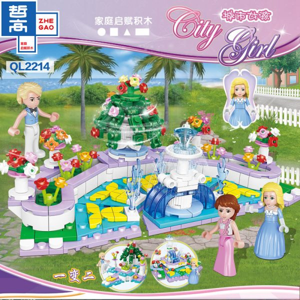 ZHEGAO QL2214 CityGirls: Fountain Garden 1