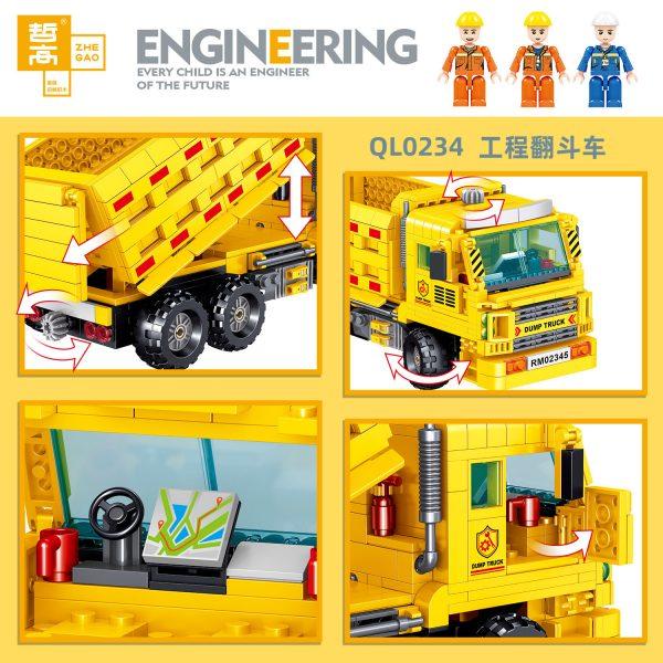 ZHEGAO QL0234 Engineering dump truck 3