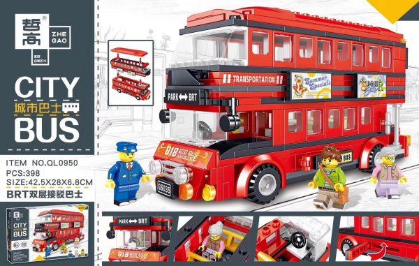 ZHEGAO QL0950 City Bus: BRT Double-Decker Shuttle Bus 0
