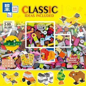 ZHEGAO QL1493 Free-to-assemble creative foundation piece DIY small building block foundation piece 0