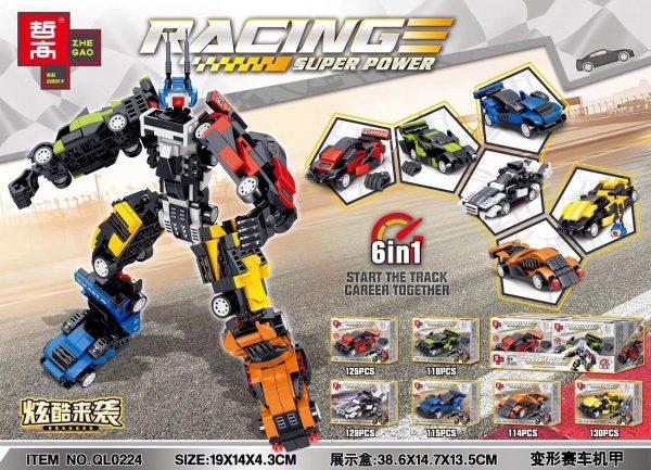 ZHEGAO QL0224 Deformed Racing Cars Armor 6 combinations 0