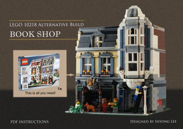 ZHEGAO QL0925 Zhegao Street View: Bookstore (10218 Pet Store Set) 0