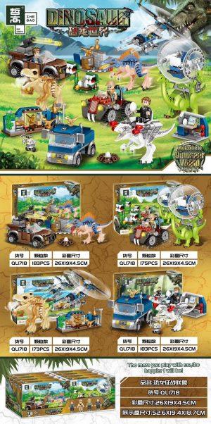 ZHEGAO QL1718 Dinosaur World: Dinosaur Battle Alliance 0