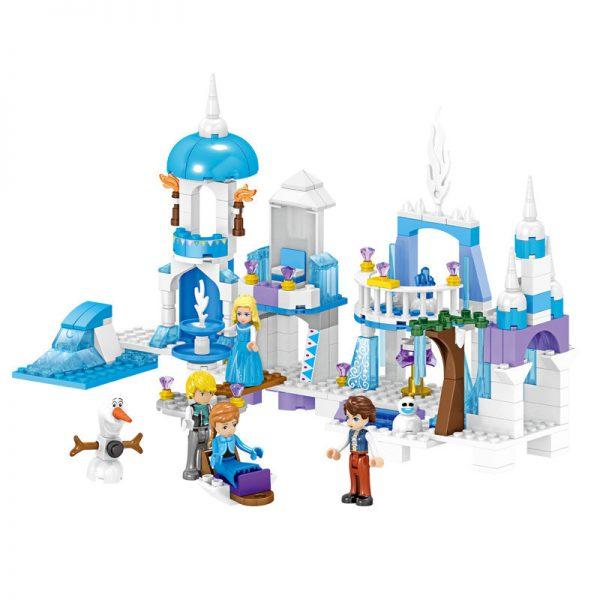 ZHEGAO QL1162 Windsor Castle Series Ice and Snow Season: Ice and Snow Fantasy Castle 0