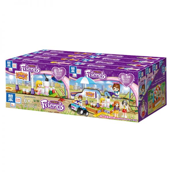 ZHEGAO QL1120 Good friends: Summer carnival 4 small boxes 0