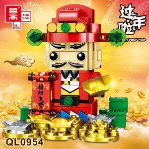 ZHEGAO QL0954 BrickHeadz: Master of Fortune 0