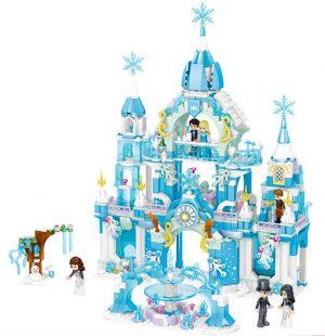 ZHEGAO QL1143 Windsor Castle Series Snow season: Bodelstar Castle 0