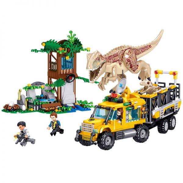 ZHEGAO QL1720 Dinosaur World: Tyrannosaurus Transport Truck 0
