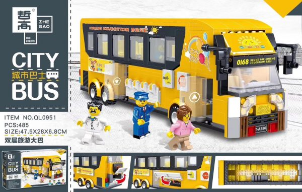 ZHEGAO QL0951 City Bus: Double-Decker Tour Bus 0