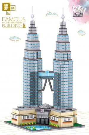 ZHEGAO QL0965 Famous building: Petronas Twin Towers, Kuala Lumpur, Malaysia 0