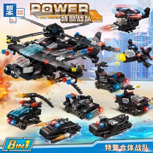 ZHEGAO QL0256 Special Police Force: Special Police Unit Armed Helicopter 8in1 0