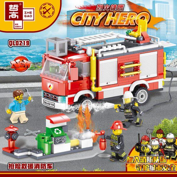 ZHEGAO QL0219 Fire Eagle: Rescue Fire Engine 0