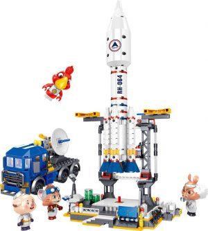 ZHEGAO QL1643 Detective Cat: Space Launch Base 0